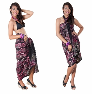 Abstract Top Quality Sarong in Black