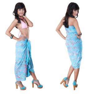 Abstract Top Quality Sarong in Turquoise