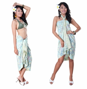 Floral Top Quality Sarong in Cream