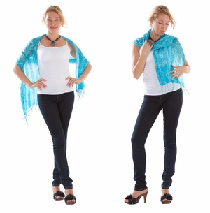 Silk Scarf in Turquoise - Assorted