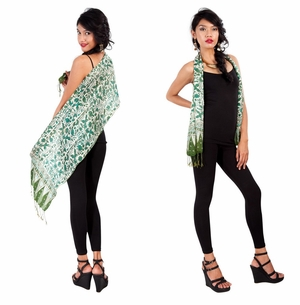 Silk Scarf in Green - Assorted