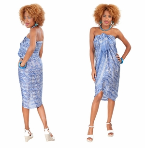 Silk Sarong in Blue - Assorted