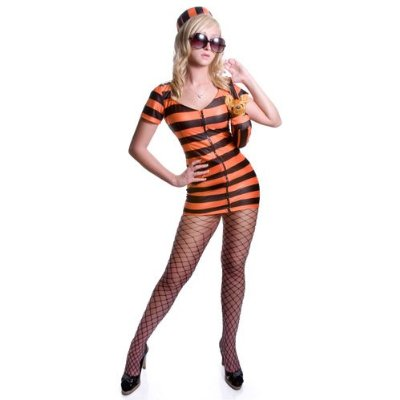Sexy Prison Costume - Orange Stripes