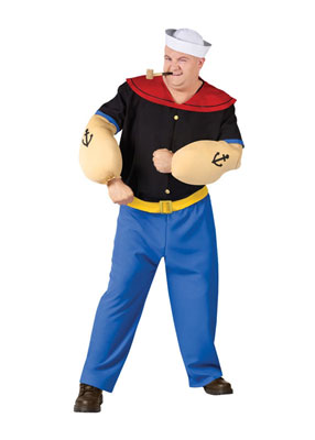Plus Size Popeye Costume