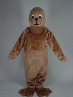 Brown Seal Mascot Costume