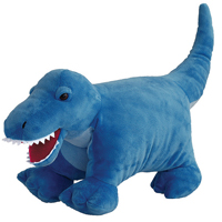 Hugga Pet Blue Dino Plush Pillow by Bestever