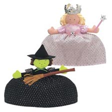 North American Bear Fancy Prancy Topsy Turvy Doll Good Witch Bad Witch Wizard of Oz
