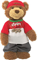 "Gund 14.5"" Hip Hop Randy Musical Christmas Bear"