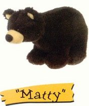 Matty Plush Mini Black Bear by Big Sky Carvers