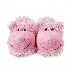 Aroma Home Plush Fuzzy Feet Adult Pig Slippers