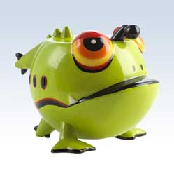 Silly Saver Ceramic Frugal Frog Money Bank