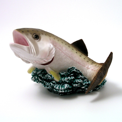 Rainbow Trout Fish Money Bank by Swibco