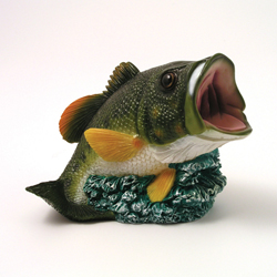 Large Mouth Bass Fish Money Bank