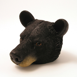 Black Bear Face Money Bank by Swibco