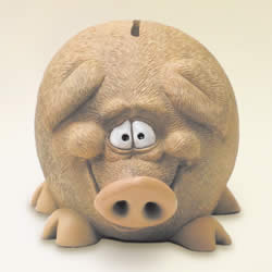 Fat Funny Pig Money Bank by Swibco