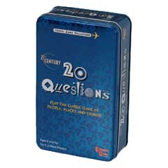 20 Questions Card Game in a Tin