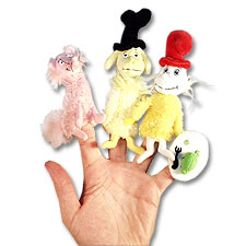 Manhattan Toy Dr Seuss Green Eggs & Ham Puppets