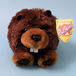 Puffkins 2 Beverly Beaver Plush by Swibco