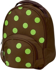 Lime Polka Dot Toddler Backpack by Four Peas