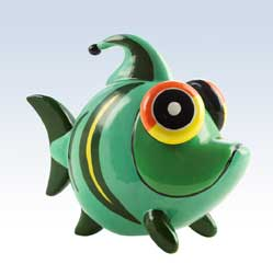 Silly Saver Ceramic Fidgety Fish Money Bank