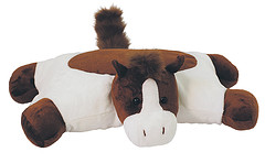 Hugga Pet Plush Horse Pillow by Bestever