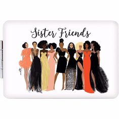 African American Expressions- PM01 Sister Friends Compact Mirror