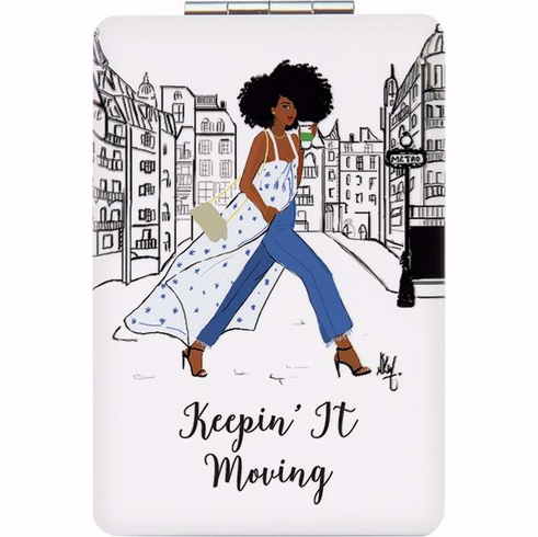 African American Expressions-PM02 Keepin' It Moving Compact Mirror