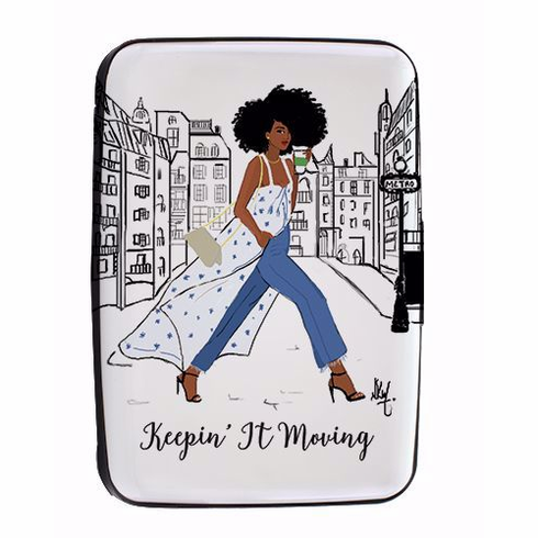 African American Expressions- CHC06 Keepin It Moving Card Holder