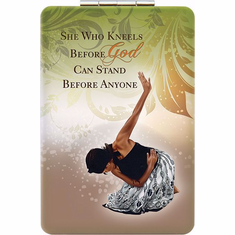 African American Expressions- PM04 She Who Kneels Compact Mirror