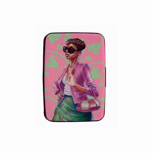 African American Expressions- CHC08 Pink and Green Card Holder