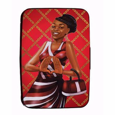 African American Expressions - CHC09 Red and White Card Holder