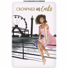 African American Expressions- PM08 Crowned in Curls Compact Mirror