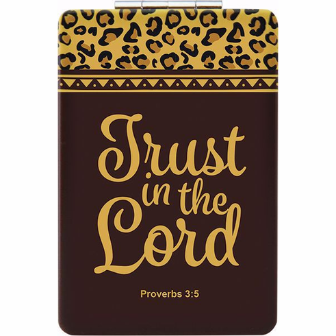 African American Expressions- PM09 Trust in the Lord Compact Mirror