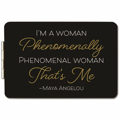 African American Expressions- PM12 Maya Angelou Phenomenal Compact Mirror