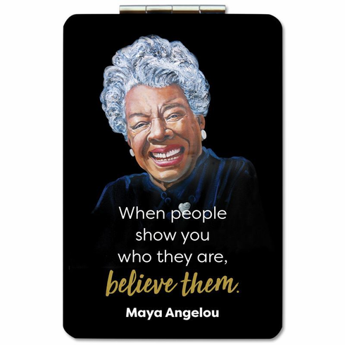 African American Expressions- PM13 Maya Angelou Believe Compact Mirror
