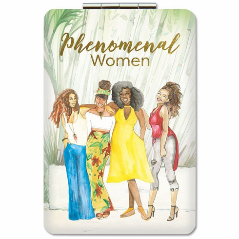 African American Expressions- PM15 Phenomenal Women (Version 2) Compact Mirror