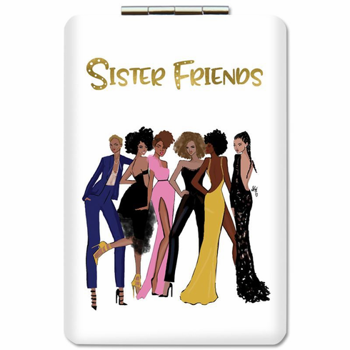 African American Expressions- PM14 Sister Friends (Version 2) Compact Mirror