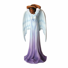 "African American Expressions - Diva Angel Polyresin Figurine (4.1"" x 3.5"" x 8.6"") FAN-01, Purple"