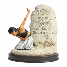 "African American Expressions - She Who Kneels Figurine (6.25"" x 3"" x 7.5"") FSWK-01"