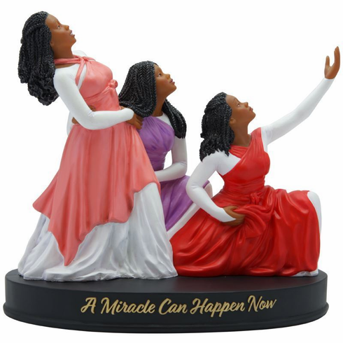 """African American Expressions - A Miracle Can Happen Figurine, 7.2"""" W x 6.5"""" H, FMCN-01"""