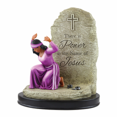 "African American Expressions - Power in the Name of Jesus Figurine (6.25"" x 3"" x 7.5"") FPOW-01"
