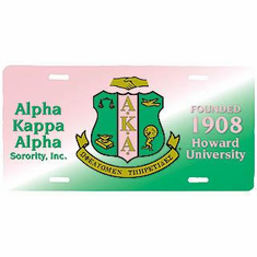 Alpha Kappa Alpha License Plate