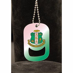 Alpha Kappa Alpha  Dog Tag Bottle Opener