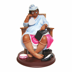 "African American Expressions - One More Day, Lord Figurine (5.25"" x 5.25"" x 7.5"") F1MD-01"