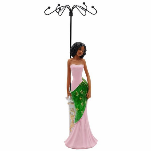 JGL03 Glamour Jewelry Holder - Pink and Green