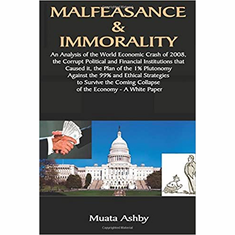 Malfeasance & Immorality: An Analysis of the World Economic Crash of 2008, the Corrupt Political and Financial Institutions that Caused it, the Plan ... the Coming Collapse of the Economy