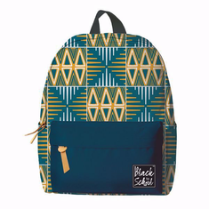 African American Expressions BP01 Blue/Yellow Mudcloth Backpack Set