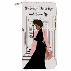 "African American Expressions - Show Up Wallet (4"" x 7.75"" x 1"" / 8 card slot) - WL05"
