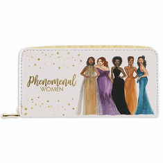 "African American Expressions - Phenomenal Women Wallet (4"" x 7.75"" x 1"" / 8 card slot) - WL10"
