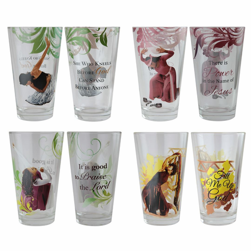 DGL01 Praise Dancers Drinking Glass Set